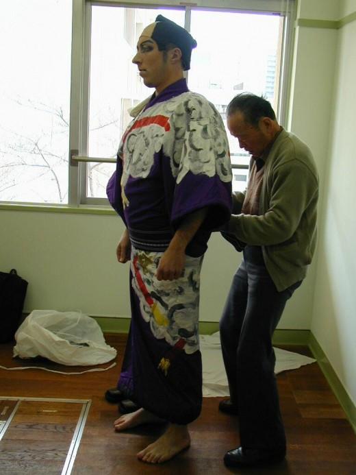 fitting the kimono