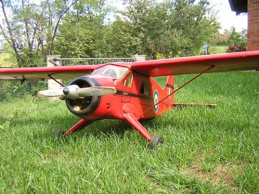 An engine powered RC plane