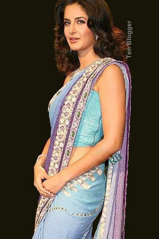 Katrina Kaif Casual blue Saree