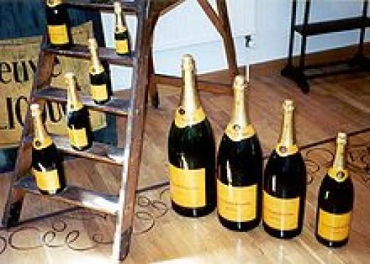 Sizes of standard Champagne bottles