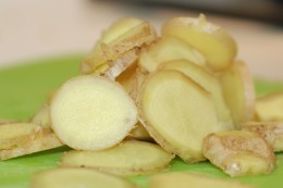Ginger is one of the most common ingredients in chinese medicine for stomachs.