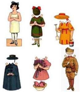 Classic paper doll templates set3