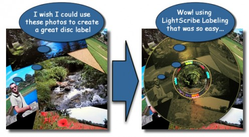 With LightScribe Labeling you can create great DVD and CD labels