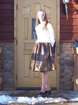 My Skirt!   3/1/10  Photo Credits:  My Son.