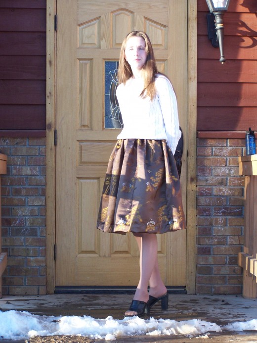 My Skirt!   3/1/10  Photo Credits:  My Son.