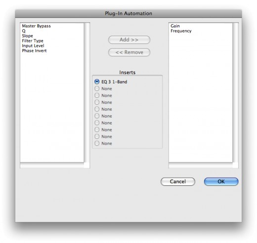 Plug-In Automation Window