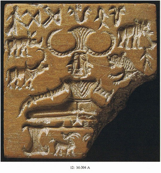 The Shiva Pashupati, seal with the seated Shiva figure termed Pashupati.
