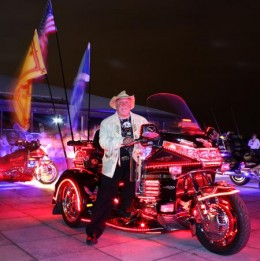 Papa Joe winner of Best Lit Bike Trophy for 3 years running