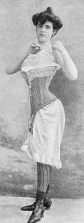 The corset was likely a cause of heartburn.