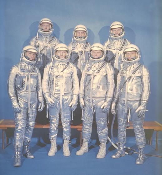 The Mercury 7. Image Courtesy of NASA.
