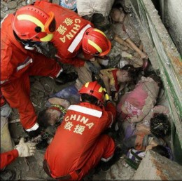 Fire Fighters to the rescue in China.