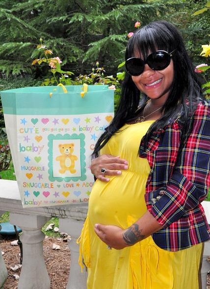 Nivea at Her Baby Shower Last Year.