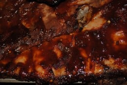 At the VERY end of cooking, add a BBQ sauce of your choice if you wish - I make my own. But only at the very end - the sugars will caramelize to charcoal if you're not careful.