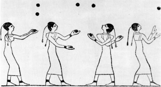 Egyptian Jugglers circa 1994 B.C. Image Credit: Wikipedia