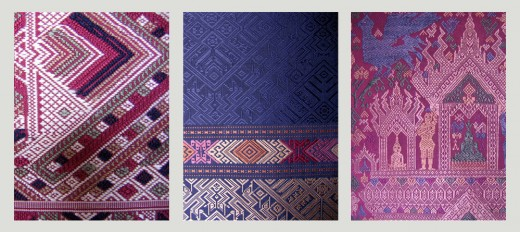 Lao Silk Textiles Up Close