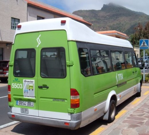 TITSA bus to Masca. Photo by Steve Andrews
