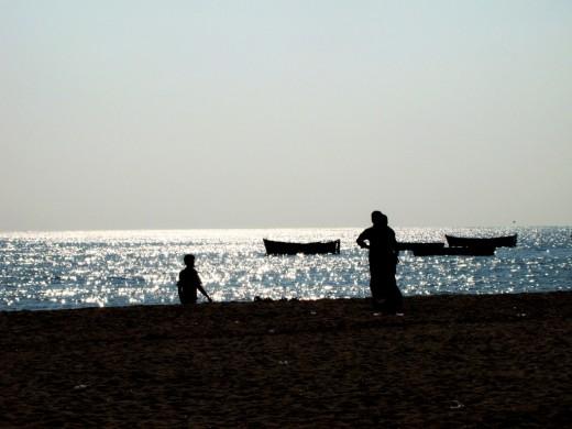 The Indian Ocean at Dhanushkodi