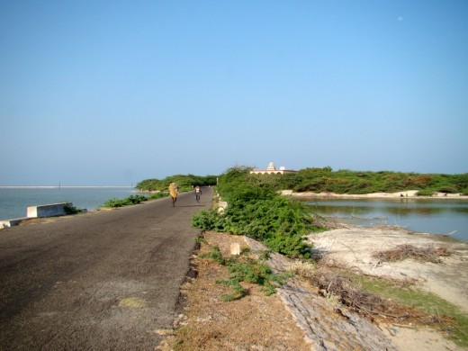 The road to Kodanda Ramaswami temple, a sacred place where Vibhisana met Lord Rama.