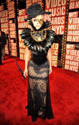 Gaga in Gaultier at the VMA 2009