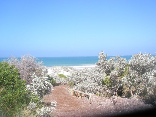 The pathway to the Geraldton beach.