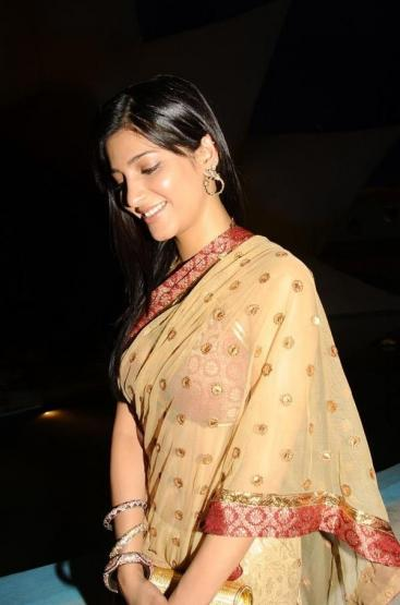 Saree but Cute Girl Shruti