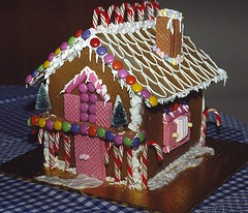 A Cute little Gingerbread House, a pretty holiday tradition.