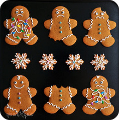 Gingerbread people obviously too tasty for their own good!