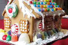 An Upmarket Gingerbread House, fun to make from scratch or from a kit.