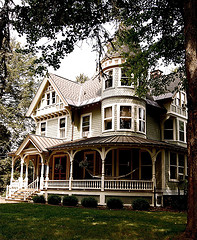 """A """"Gingerbread"""" House showing it's ornate style usually dating back to the late 1800s."""