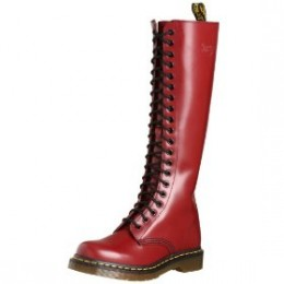 A fabulous 20-eyelet Dr Martens leather boot