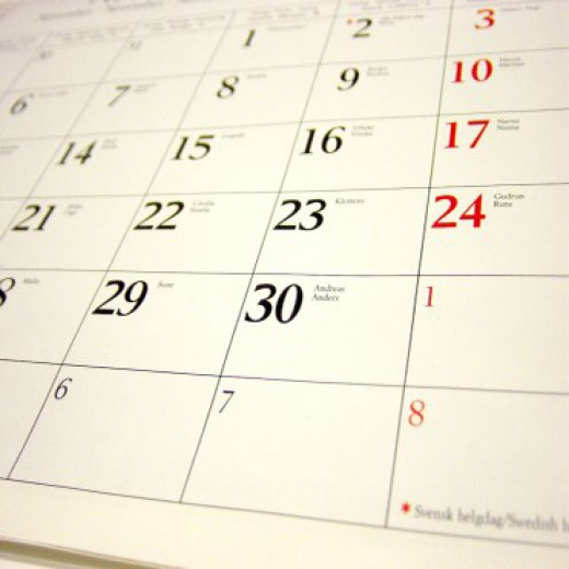What fills our calendars . . .