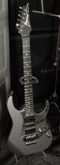 This is my custom made Ibanez RG as I explained above