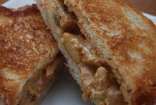 Butter and Banana Sandwich made in a Sandwich Maker