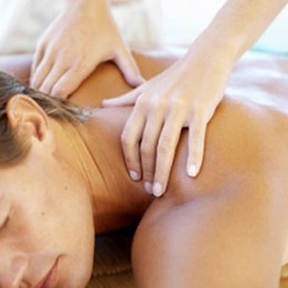 Aromatic oils are used for massage