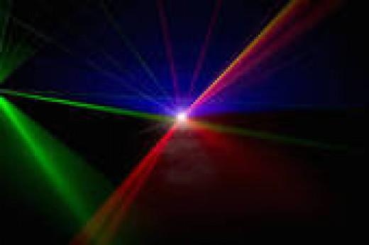 laser beams (red,green,blue)