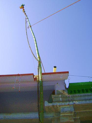 The Flag Pole Hoisted.