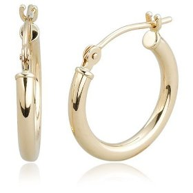 Buy 14k Yellow Gold 2mm Round Hoop Earrings