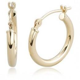 Buy 14k Yellow Gold 2mm Round Hoop Earrings