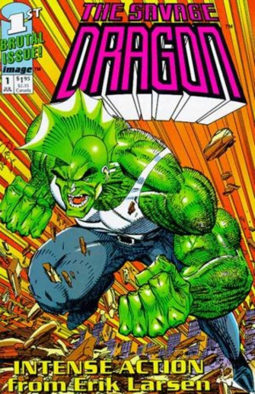 Savage Dragon By Erik Larsen.