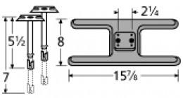 cast iron sunbeam h burner with adjustable venturi