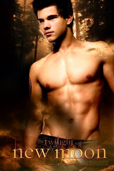 Jacob Black played by Taylor Lautner in the film New Moon