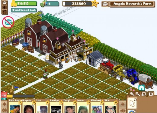 A glimpse at the farm of Beth100 a Farmville aficionado and a Hubber.