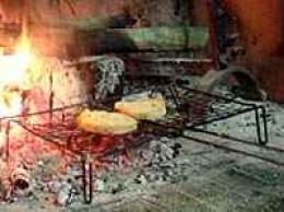 Bruschetta over an open fire