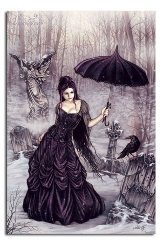 Victorian Parasol Girl