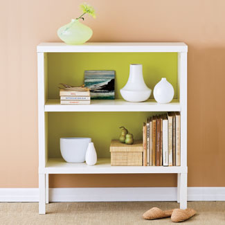 Small bedroom bookcase - photo credit: goodhousekeeping.com
