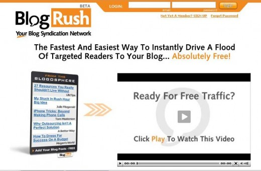 BlogRush - Free Blogger Traffic