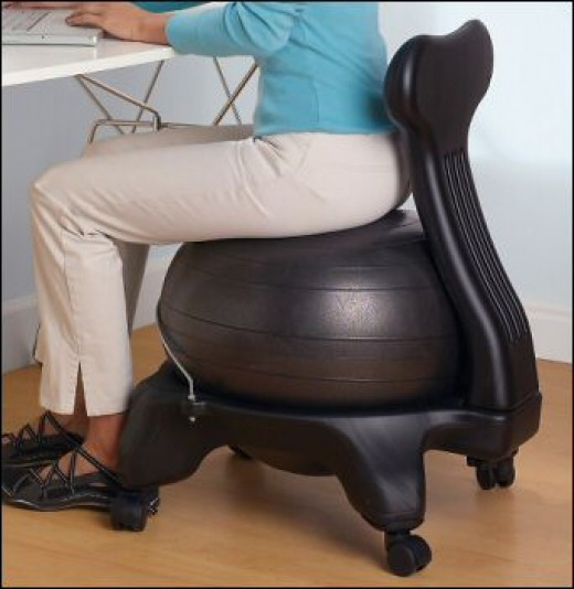 Yoga ball chairs work well for improving your balance and strengthening your core.