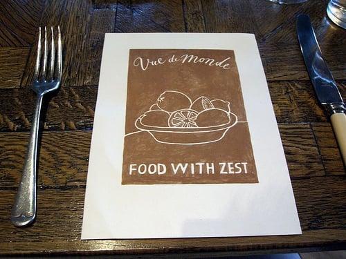 A simple menu cover