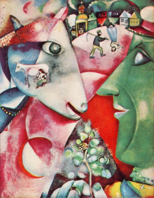 One of Chagall's most famous painting. I and the Village .