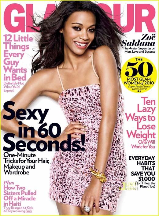 Zoe Saldana Glamour Mag Cover